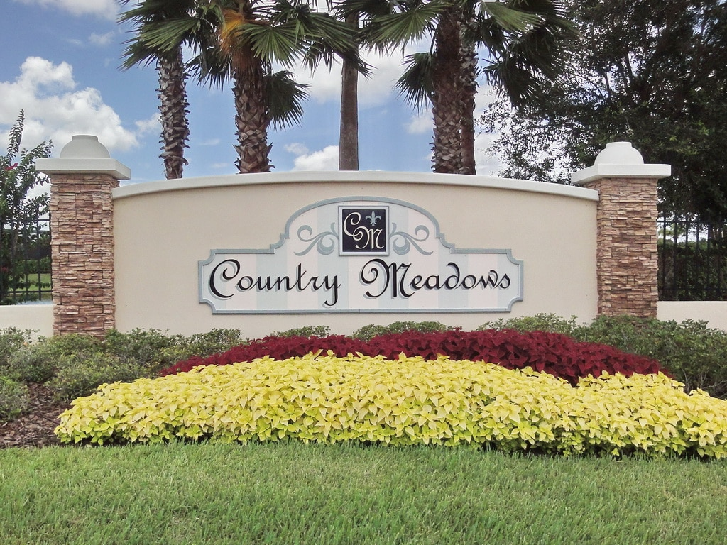 Country Meadows in Bradenton Entrance Sign