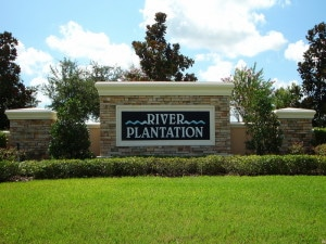 River Plantation in Parrish Entrance Sign