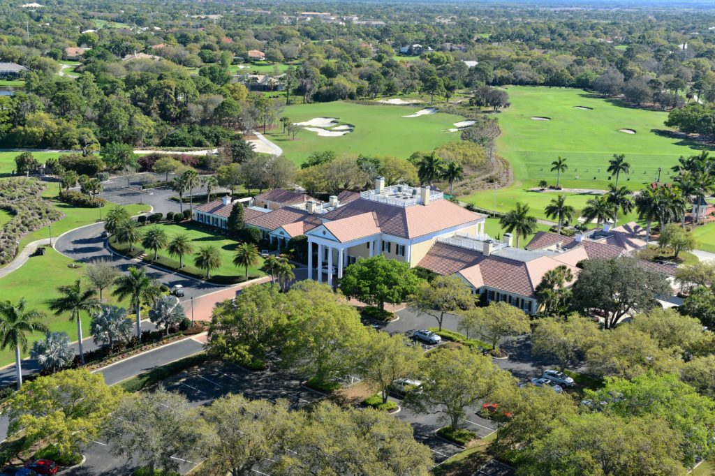 Oaks Golf and Country Club in Osprey Clubhouse Aerial 4