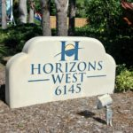 Horizons West in Siesta Key Entrance Sign